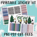 Modern Christmas Printable Weekly Planner Stickers - PK5