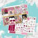 Laid-Back Vday Printable Weekly Planner Stickers