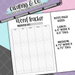 Word Tracker Bullet Journal Note Page Sticker