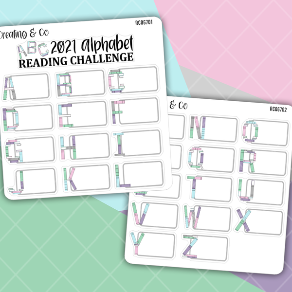 Alphabet Reading Challenge Sticker Set