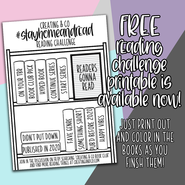 #StayHomeandRead FREE Printable Reading Challenge Printable Stickers