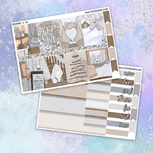 Let It Snow Printable Weekly Planner Stickers