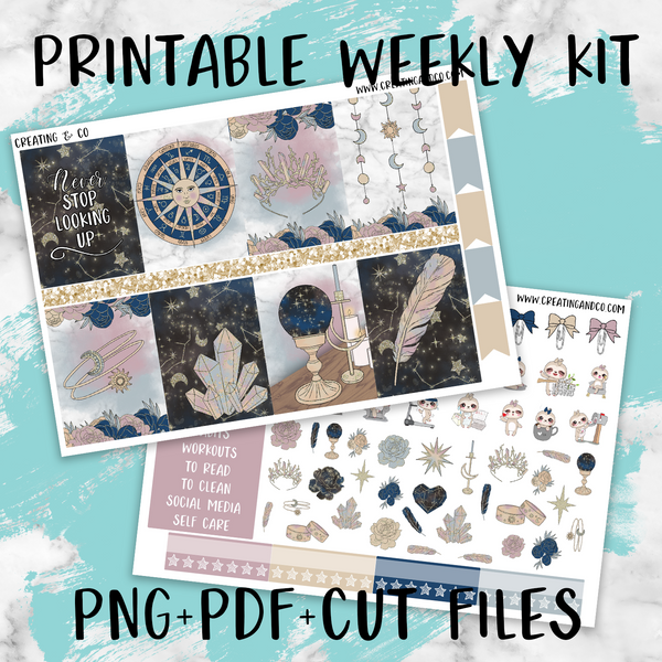 Zodiac Printable Weekly Planner Stickers