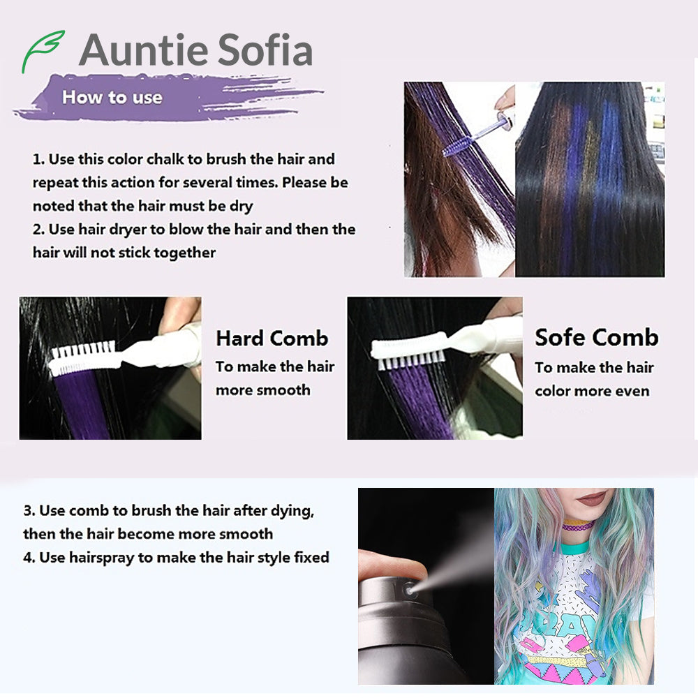 13 Colors One-off Hair Color Dye Temporary Non-toxic DIY Hair Color ...