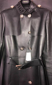 288c2f6c9a Versace Black Leather Trench Coat – Villa Rock Couture