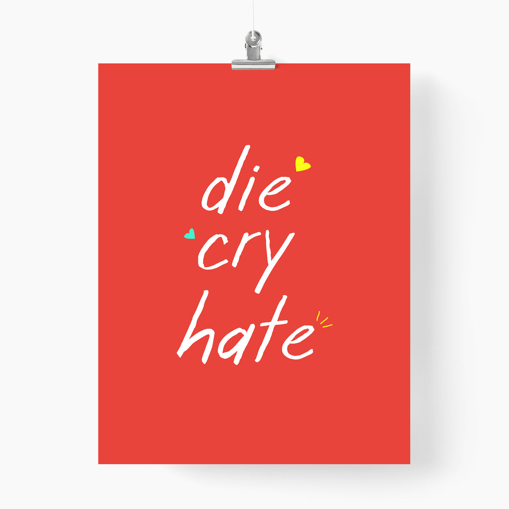 Die Cry Hate - Unspiration