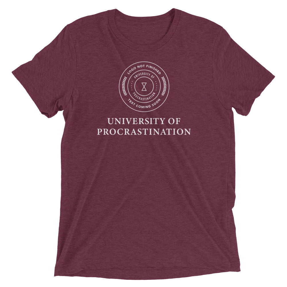University Of Procrastination. Logo Not Finished - Unspiration