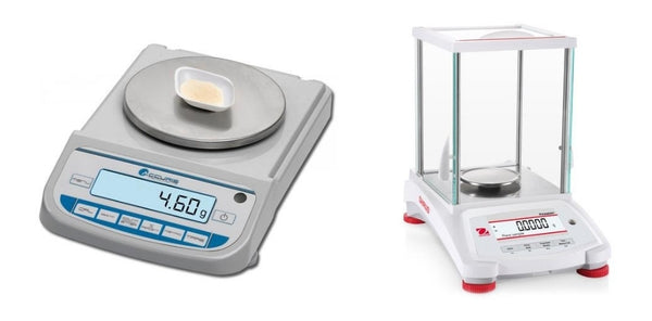 Precision and analytical balances.