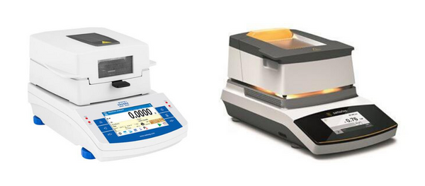 Examples of moisture analyzers.