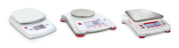 Portable Ohaus balances.