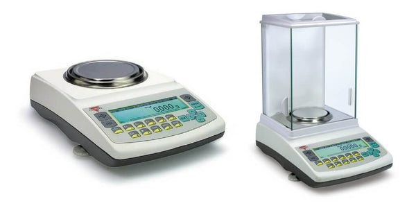 An AG Pro Precision Balance and an AGN Pro Analytical Balance.