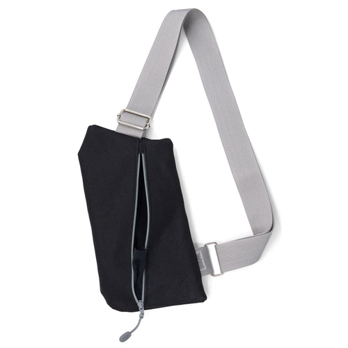 ♡ BESTSELLER! The Griffey Crossbody Travel Bag in Black & Grey