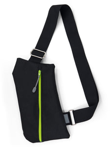 WHOLESALE—Griffey Crossbody Bag in Black & Lime