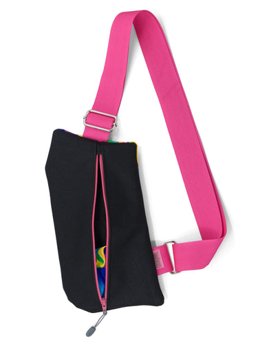 The Griffey Crossbody Travel Bag in Psychedelic Pink