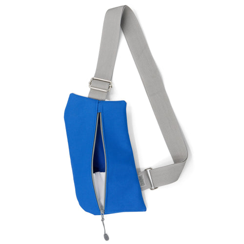 BRANDED—Griffey Crossbody Travel Bag in Royal Blue & Grey