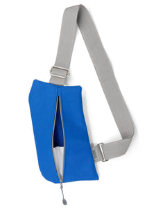 WHOLESALE—Griffey Crossbody Bag in Royal Blue & Grey