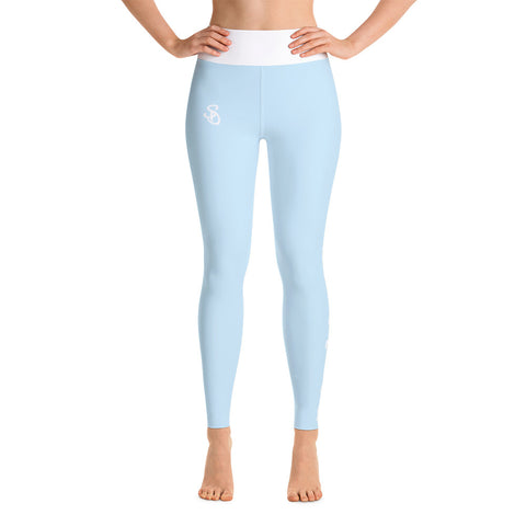 SteadyDreaming Leggings Powder Blue / White - SteadyDreamingCo