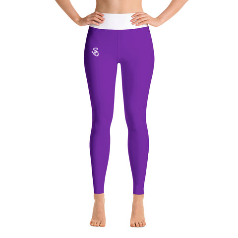 SteadyDreaming Leggings Purple / White - SteadyDreamingCo