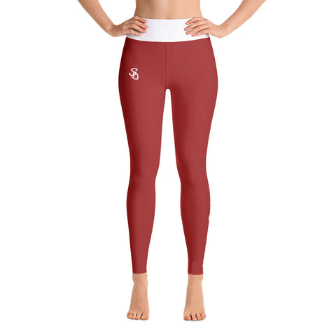 SteadyDreaming Leggings Red / White - SteadyDreamingCo