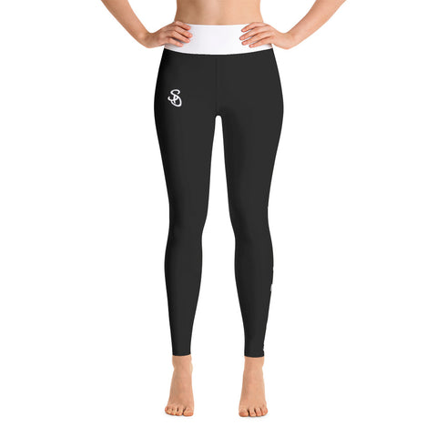 SteadyDreaming Leggings Black / White - SteadyDreamingCo