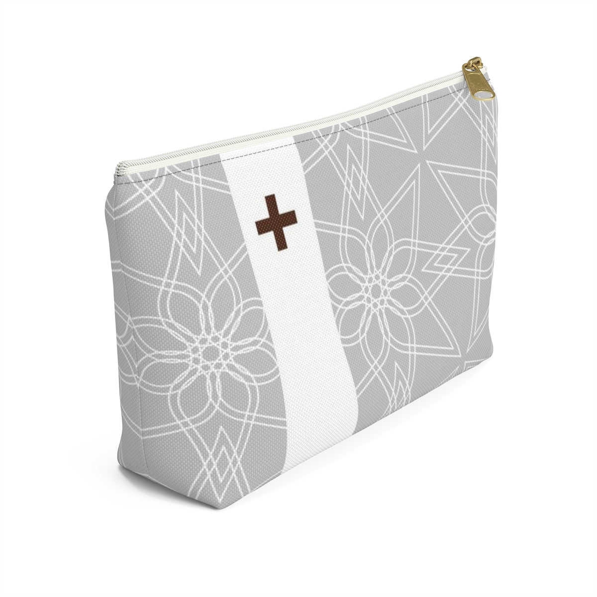 Gray Geometric Medical Pouch
