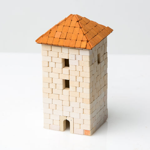 WISE ELK Mini bricks OLD TOWN construction set - Tower, 420 pcs, White