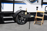 "TailGater Black Steel Tire Table, 23"" W x 29"" L x 1.5"", hold up to 70 lbs"