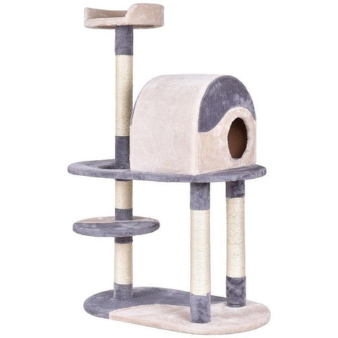 "48"" Cat Tree Tower Condo Gray/Brown"