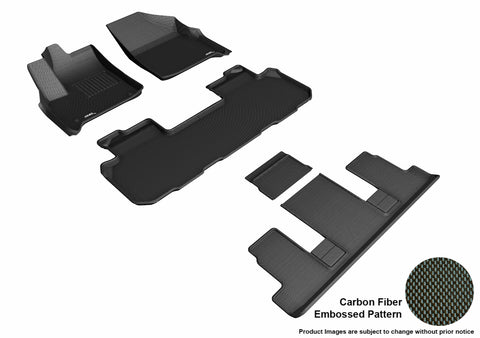 3D MAXpider L1CH08601509 CHEVROLET TRAVERSE WITH BUCKET 2ND ROW 2018-2019 KAGU BLACK R1 R2 R3