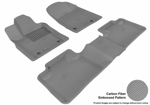 3D MAXpider L1DG01301501 DODGE DURANGO 2012-2019 KAGU GRAY R1 R2 5 SEATS (2 POSTS ON FRONT PASSENGER'S FLOOR)
