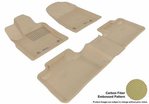 3D MAXpider L1DG01301502 DODGE DURANGO 2012-2019 KAGU TAN R1 R2 5 SEATS (2 POSTS ON FRONT PASSENGER'S FLOOR)