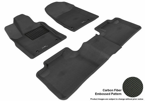3D MAXpider L1DG01301509 DODGE DURANGO 2012-2019 KAGU BLACK R1 R2 5 SEATS (2 POSTS ON FRONT PASSENGER'S FLOOR)