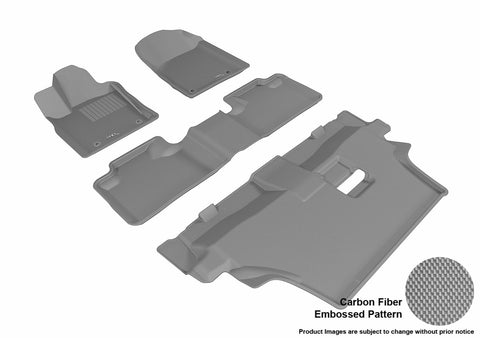 3D MAXpider L1DG02501501 DODGE DURANGO 2012-2019 KAGU GRAY R1 R2 R3 7 SEATS (2 POSTS ON FRONT PASSENGER'S FLOOR)