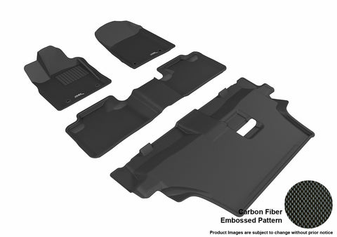 3D MAXpider L1DG02501509 DODGE DURANGO 2012-2019 KAGU BLACK R1 R2 R3 7 SEATS (2 POSTS ON FRONT PASSENGER'S FLOOR)