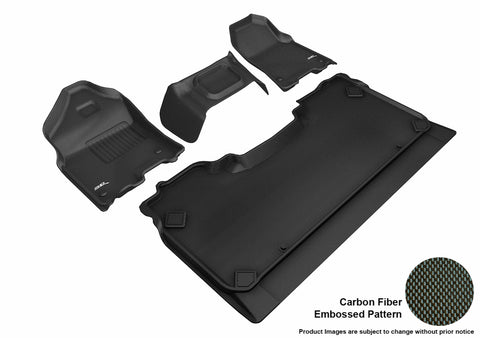 3D MAXpider L1DG02701509 DODGE RAM 1500 CREW CAB WITH BENCH FRONT ROW 2019 KAGU BLACK R1 R2 (R1 3 PCS DESIGN)