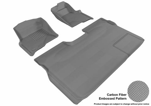 3D MAXpider L1FR06701501 FORD F-150 2009-2010 SUPERCREW KAGU GRAY R1 R2 (1 EYELET, NOT FIT 4X4 M/T FLOOR SHIFTER, TRIM TO FIT SUBWOOFER)