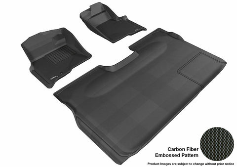 3D MAXpider L1FR06701509 FORD F-150 2009-2010 SUPERCREW KAGU BLACK R1 R2 (1 EYELET, NOT FIT 4X4 M/T FLOOR SHIFTER, TRIM TO FIT SUBWOOFER)