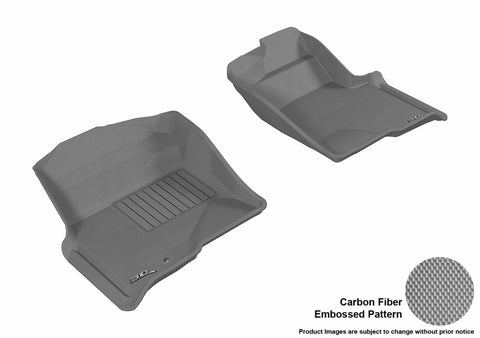 3D MAXpider L1FR06711501 FORD F-150 2009-2010 REGULAR/ SUPERCAB/ SUPERCREW KAGU GRAY R1 (1 EYELET, NOT FIT 4X4 M/T FLOOR SHIFTER)
