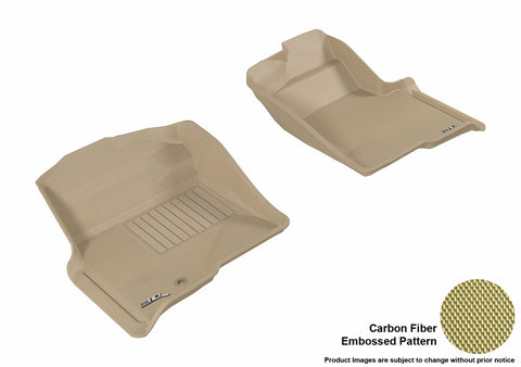 3D MAXpider L1FR06711502 FORD F-150 2009-2010 REGULAR/ SUPERCAB/ SUPERCREW KAGU TAN R1 (1 EYELET, NOT FIT 4X4 M/T FLOOR SHIFTER)