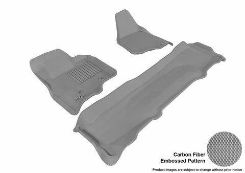 3D MAXpider L1FR07001501 FORD F-250/ 350/ 450 2011-2012 SUPERCREW KAGU GRAY R1 R2 (NOT FIT 4X4 M/T FLOOR SHIFTER)