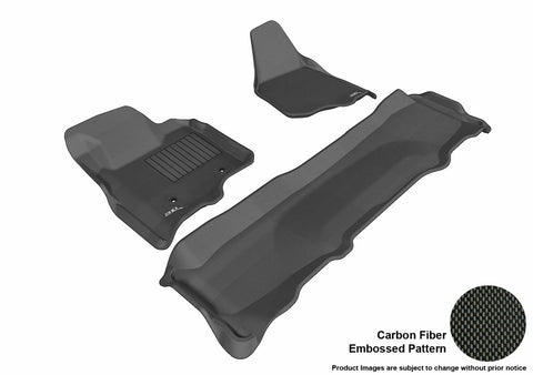 3D MAXpider L1FR07001509 FORD F-250/ 350/ 450 2011-2012 SUPERCREW KAGU BLACK R1 R2 (NOT FIT 4X4 M/T FLOOR SHIFTER)