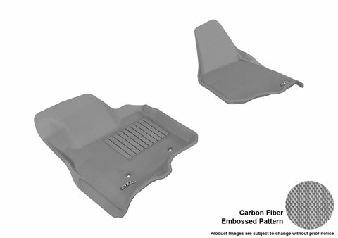 3D MAXpider L1FR07011501 FORD F-250/ 350/ 450 2011-2012 SUPERCAB/ SUPERCREW KAGU GRAY R1 (NOT FIT 4X4 M/T FLOOR SHIFTER)