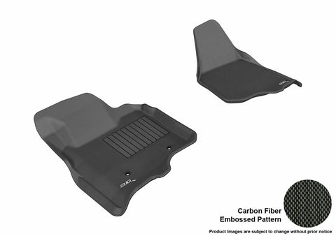 3D MAXpider L1FR07011509 FORD F-250/ 350/ 450 2011-2012 SUPERCAB/ SUPERCREW KAGU BLACK R1 (NOT FIT 4X4 M/T FLOOR SHIFTER)