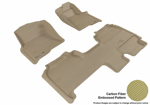 3D MAXpider L1FR07101502 FORD F-150 2009-2010 SUPERCAB KAGU TAN R1 R2 (1 EYELET, NOT FIT 4X4 M/T FLOOR SHIFTER, TRIM TO FIT SUBWOOFER)