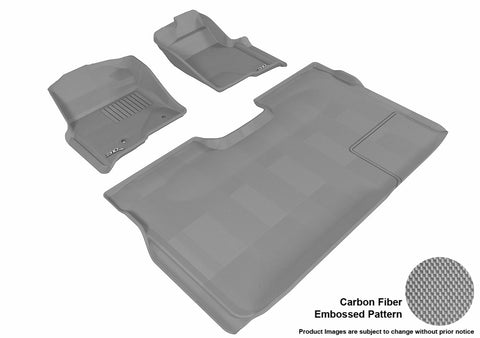 3D MAXpider L1FR07201501 FORD F-150 2010-2014 SUPERCREW KAGU GRAY R1 R2 (2 POSTS, WITH HEATING DUCT, NOT FIT 4X4 M/T FLOOR SHIFTER, TRIM TO FIT SUBWOOFER)
