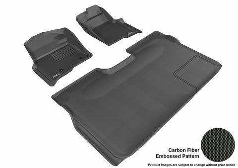3D MAXpider L1FR07201509 FORD F-150 2010-2014 SUPERCREW KAGU BLACK R1 R2 (2 POSTS, WITH HEATING DUCT, NOT FIT 4X4 M/T FLOOR SHIFTER, TRIM TO FIT SUBWOOFER)