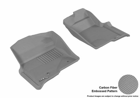 3D MAXpider L1FR07211501 FORD F-150 2010-2014 REGULAR/ SUPERCAB/ SUPERCREW KAGU GRAY R1 (2 POSTS, WITH HEATING DUCT, NOT FIT 4X4 M/T FLOOR SHIFTER)