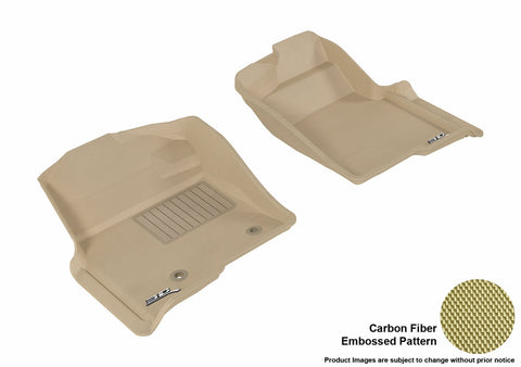3D MAXpider L1FR07211502 FORD F-150 2010-2014 REGULAR/ SUPERCAB/ SUPERCREW KAGU TAN R1 (2 POSTS, WITH HEATING DUCT, NOT FIT 4X4 M/T FLOOR SHIFTER)