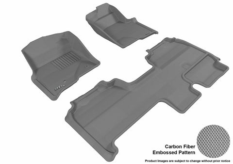 3D MAXpider L1FR07401501 FORD F-150 2010-2014 SUPERCAB KAGU GRAY R1 R2 (2 POSTS, WITH HEATING DUCT, NOT FIT 4X4 M/T FLOOR SHIFTER, TRIM TO FIT SUBWOOFER)