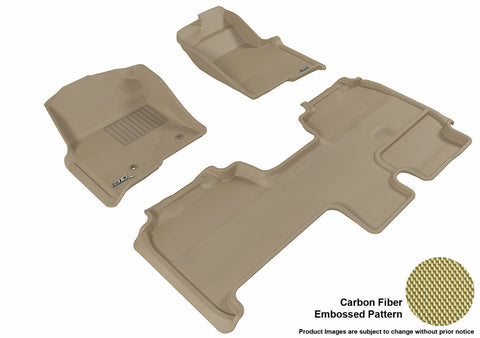 3D MAXpider L1FR07401502 FORD F-150 2010-2014 SUPERCAB KAGU TAN R1 R2 (2 POSTS, WITH HEATING DUCT, NOT FIT 4X4 M/T FLOOR SHIFTER, TRIM TO FIT SUBWOOFER)